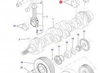 Вкладыши коренные двигателя Sisu Diesel на трактор Challenger — 836655514