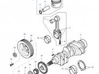 Поршень двигателя трактора Massey Ferguson — 836666103