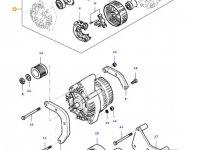Генератор двигателя трактора Massey Ferguson — 836666720