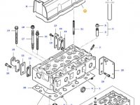 Прокладка клапанной крышки двигателя трактора Massey Ferguson — 836667243