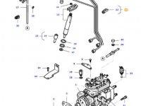 Комплект топливных трубок двигателя трактора Massey Ferguson — 836667259