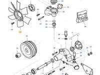 Крыльчатка (вентилятор) радиатора двигателя трактора Massey Ferguson — 836673304