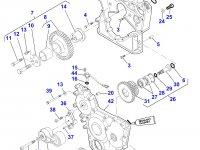 Передний сальник коленвала двигателя Sisu Diesel трактора Massey Ferguson — 836673387