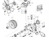 Фланец вентилятора радиатора двигателя трактора Massey Ferguson — 836673409