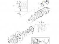 Вкладыши коренные двигателя трактора Massey Ferguson — 836679154