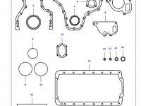 Комплект прокладок двигателя трактора Massey Ferguson — 836740333