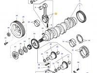 Комплект шатунов двигателя трактора Massey Ferguson — 836740859