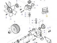 Ремкомплект водяного насоса двигателя трактора Massey Ferguson — 836762631