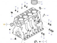 Блок двигателя трактора Massey Ferguson — 836766377
