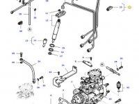 Комплект топливных трубок двигателя трактора Massey Ferguson — 836766407
