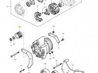 Шкив (ролик) ремня генератора двигателя трактора Massey Ferguson — 836766674