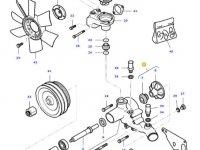 Охлаждающий(водяной) насос двигателя трактора Massey Ferguson — 836766976