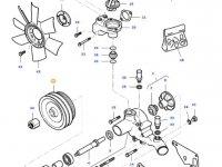 Шкив водяного насоса двигателя трактора Massey Ferguson — 836766987