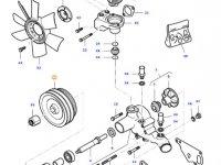 Шкив водяного насоса двигателя трактора Massey Ferguson — 836767066