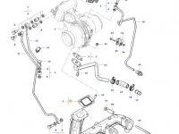 Прокладка турбокомпрессора двигателя трактора Massey Ferguson — 836784847