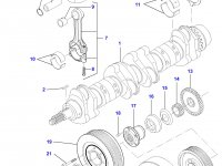 Демпфер шкива коленвала двигателя Sisu Diesel на трактор Challenger — 836840867