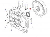 Задний сальник коленвала двигателя Sisu Diesel трактор Challenger — 836840884