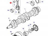 Комплект шатунов двигателя трактора Massey Ferguson — 836840928