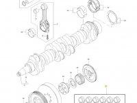 Комплект шатунов двигателя трактора Challenger — 836840928