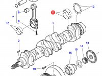 Вкладыши коренные двигателя Sisu Diesel трактора Massey Ferguson — 836840944