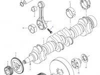 Вкладыши коренные двигателя трактора Challenger — 836840978