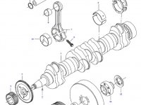 Вкладыши коренные двигателя трактора Challenger — 836840979
