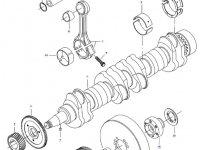 Вкладыши коренные двигателя трактора Challenger — 836840980