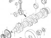 Вкладыши коренные двигателя трактора Challenger — 836840981