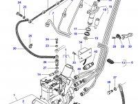 Трубка отвода топлива двигателя Sisu Diesel трактор Challenger — 836847522