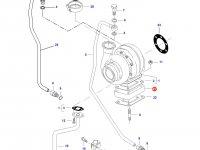 Фланец турбокомпрессора двигателя трактора Challenger — 836855709