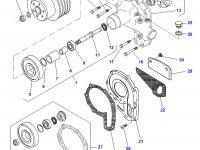 Шкив водяного насоса двигателя трактора Challenger — 836859373