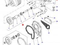 Охлаждающий(водяной) насос двигателя трактора Challenger — 836859395