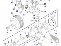 Ремкомплект водяного насоса двигателя трактора Massey Ferguson — 836862613