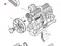 Ремень генератора трактора Challenger — 836864164