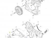Натяжной ролик ремня двигателя трактора Massey Ferguson — 836866321