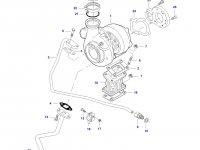 Патрубок турбокомпрессора двигателя трактора Challenger — 836866381