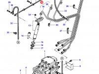 Комплект топливных трубок двигателя Sisu Diesel трактор Challenger — 836866412