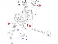 Турбокомпрессор двигателя Sisu Diesel трактора Massey Ferguson — 836866583