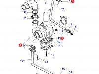 Турбокомпрессор двигателя трактора Massey Ferguson — 836866584