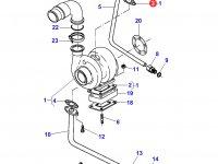 Прокладка турбокомпрессора двигателя Sisu Diesel трактора Massey Ferguson — 836866808