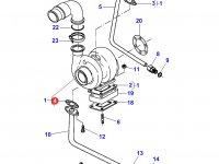Прокладка турбокомпрессора двигателя Sisu Diesel трактора Massey Ferguson — 836866809