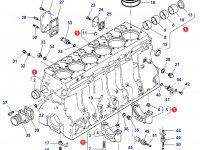 Блок двигателя Sisu Diesel трактор Challenger — 836867046