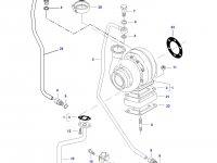 Патрубок турбокомпрессора двигателя трактора Challenger — 836867533