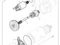 Стартер двигателя трактора Massey Ferguson — 836873457