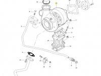 Турбокомпрессор двигателя трактора Massey Ferguson — 836873825
