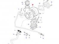 Турбокомпрессор двигателя трактора Challenger — 836873825
