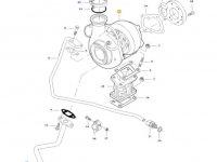 Турбокомпрессор двигателя трактора Massey Ferguson — 836873826