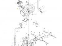 Турбокомпрессор двигателя трактора Massey Ferguson — 836873827