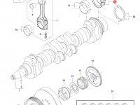 Вкладыши коренные(стандарт) двигателя Sisu Diesel на трактор Challenger — 836879152
