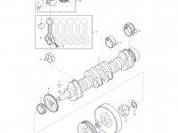 Вкладыши коренные двигателя трактора Massey Ferguson — 836879152